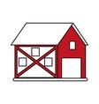 red barn design vector image
