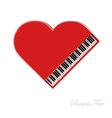 Red piano on white background vector