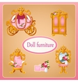Royal doll furniture for the room Princess vector image vector image