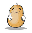 sad potato character cartoon style vector image vector image