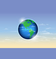 save earth ecology concept vector image