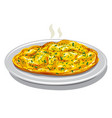 scrambled eggs vector image vector image