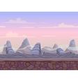 Seamless stone desert landscape vector image