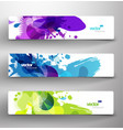 set of three abstract colorful headers vector image vector image