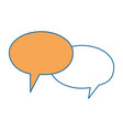 speech bubbles message icon vector image vector image