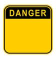 sticker danger safety sign vector image vector image