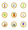 stockholm icons set cartoon style vector image vector image