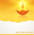 stylish glowing diya vector image vector image