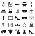 stylist icons set simple style vector image vector image