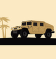 stylized drawing a military suv vector image