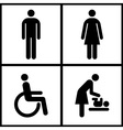 Toilet Sign vector image vector image