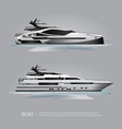 transportation boat tourist yacht to travel vector image vector image
