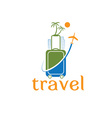 travel template vector image vector image