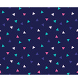 tribal seamless pattern with triangles Geometric vector image vector image