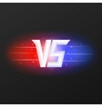 Versus icon with flares vector image