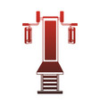 weight machine isolated red lines vector image vector image