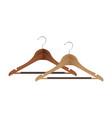 wooden coat hanger vector image vector image