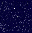 star sky background seamless pattern vector image