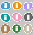 Refrigerator icon sign Multicolored paper stickers vector image