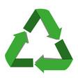 isolated ecology emblem vector image