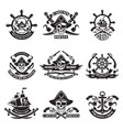 monochrome pictures of pirate labels vector image