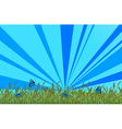 A garden with blue butterflies vector image vector image