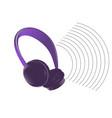 abstract dark headphones vector image vector image