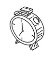 alarm icon doodle hand drawn or outline icon style vector image vector image