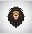 angry lion king head logo design mascot vector image
