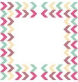 arrow background geometric design vector image