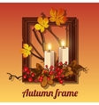 Autumn still life in a frame for picture vector image