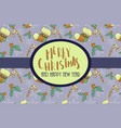 beautiful decorative christmas card vector image
