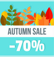 big autumn final sale background flat style vector image vector image