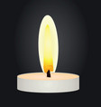 candle in the dark vector image vector image