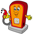 cartoon gas station vector image
