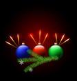 christmas balls christmas tree snowflakes vector image vector image