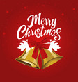 christmas bell for greetings card vector image vector image