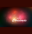 christmas greeting card text merry vector image