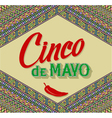 Cinco De Mayo lettering design on a ethnic vector image