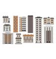city elements of high-rise buildings in flat style vector image vector image