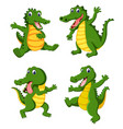 collection of the big crocodilies vector image vector image