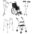 Crutches and Wheelchairs vector image vector image