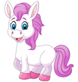 Cute baby pony horse posing isolated vector image vector image