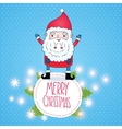 Cute cartoon Santa Claus Christmas card vector image vector image