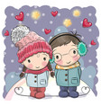 cute winter vector image vector image