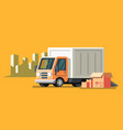 delivery truck and fast delivery service vector image