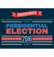 Digital usa presidential election 2016 vector image vector image