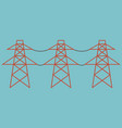 electric towers vector image vector image