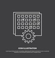 event management processing schedule timing icon vector image vector image