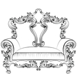 Exquisite Fabulous Imperial Baroque armchair vector image vector image